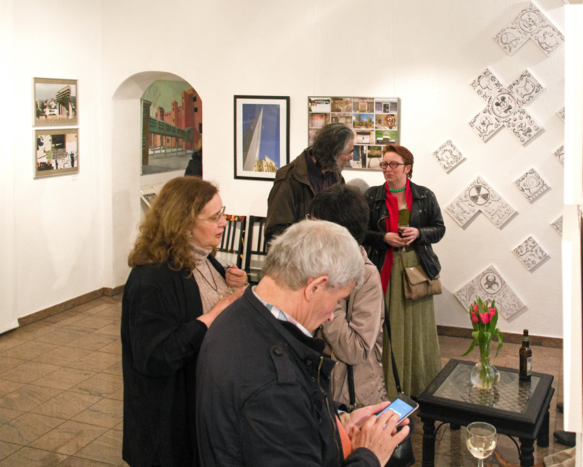 "Vernissage ""parablaupause"", Galerie Vinogradov (Berlin), 7.4.16"