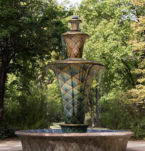 DD0372 Mosaikbrunnen im Großen Garten (Dresden Südvorstadt Ost 2019)