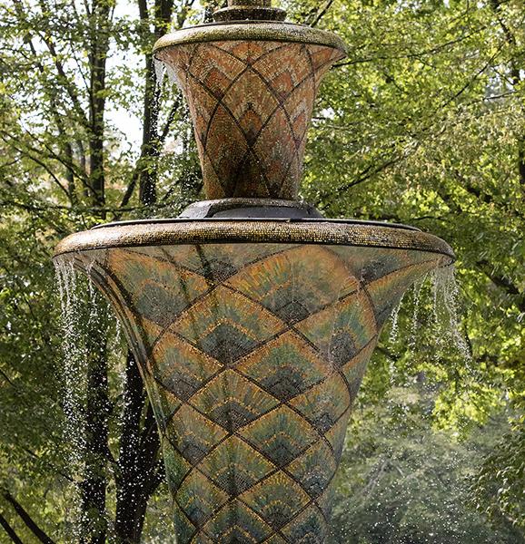 DD0377 Mosaikbrunnen im Großen Garten (Detail, Dresden Südvorstadt Ost 2019)