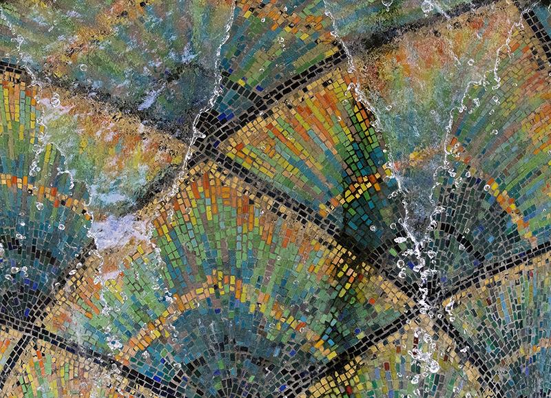 DD0379 Mosaikbrunnen im Großen Garten (Detail, Dresden Südvorstadt Ost 2019)