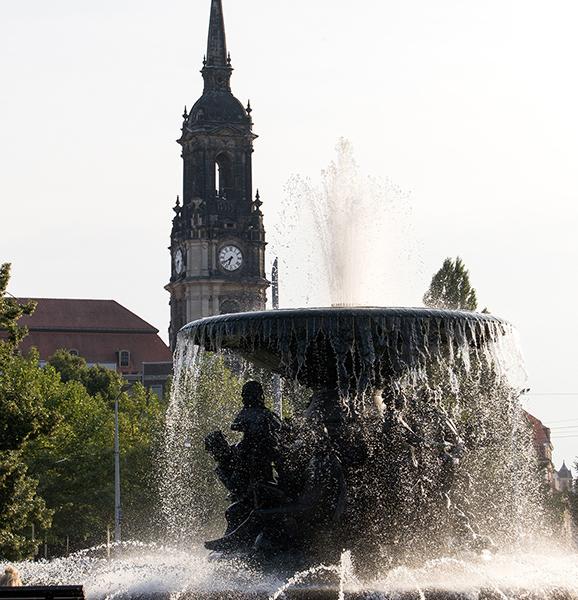 "DD0248 ""Stille Wasser"" (Zwillingsbrunnen Brunnen 1894, Albertplatz, Innere Neustadt, Dresden 2017)"