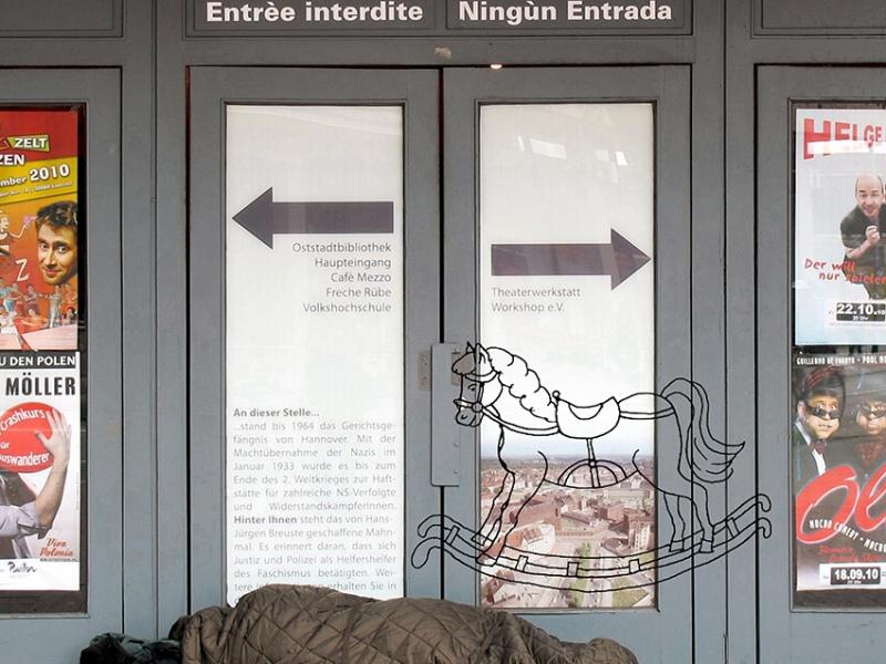 0590C: Ich hab meinem Berater was vom Pferd erzählt... (Collage, Montage, Hannover 2010)
