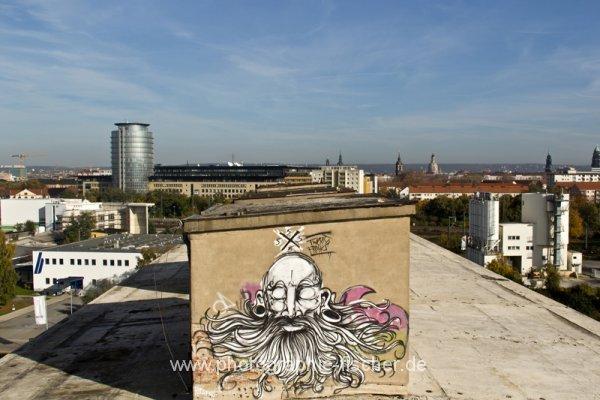 0817: o.T. (Dresdner Skylines, Blick von der Rosenstr. zur Altstadt; 2014)