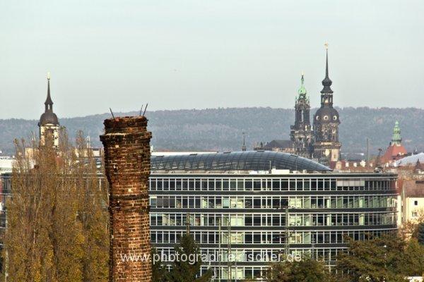 0818: o.T. (Dresdner Skylines, Blick von der Zwickauer Str., 2014)