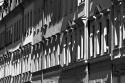 """PK0990sw: Kamenzer Str. in der Nachmittagssonne (Dresden-Äußere Neustadt, 2015), Aus der Serie """"Licht und Schatten in der Neustadt"""""""