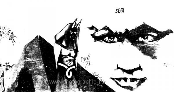 PK0338: SEGI Graffiti in Guernica (schwarz-weiß Adaption, 2008/2009-2011)