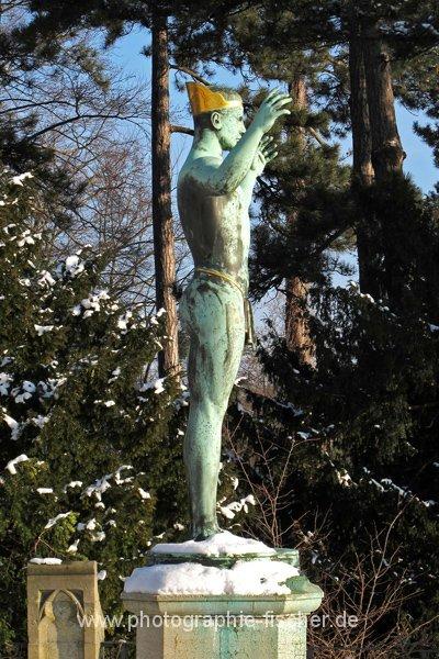 PK0613: Statue von Sascha Schneider (Dresden, Schloß Eckberg; 2012)