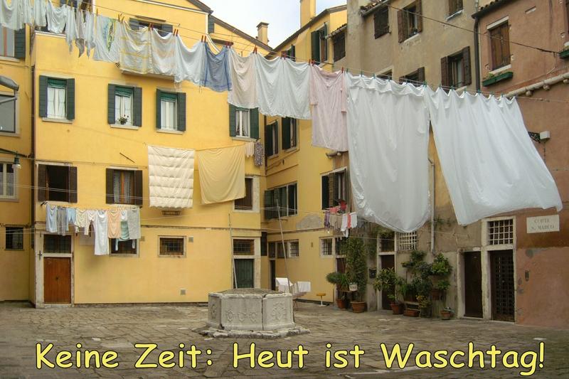 PK0497: Keine Zeit: Heut ist Waschtag! (Venedig 2009)