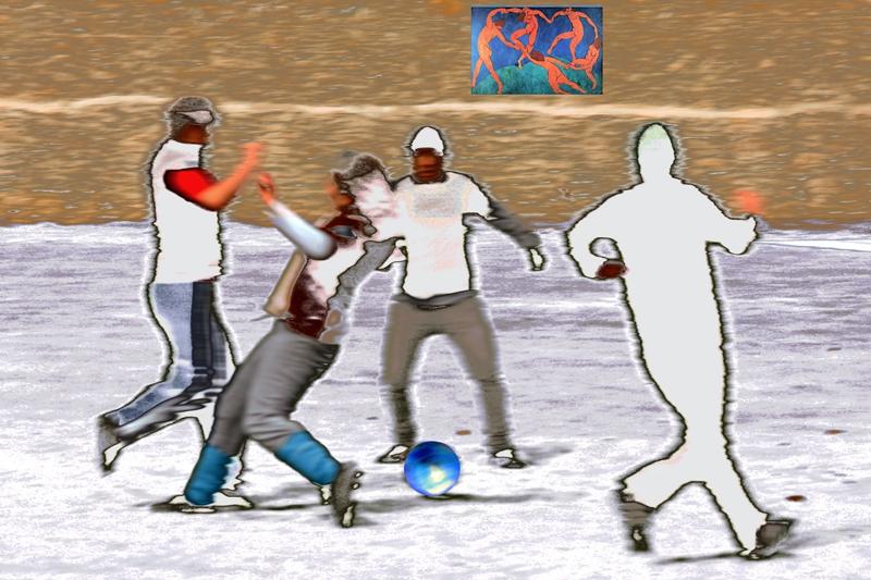 """PK0869: """"Der (Fußball-)Tanz"""" frei nach Henri Matisse (Regensburg 2013)"""