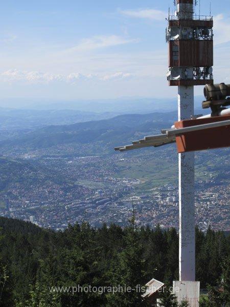 sar122 Blick vom Trebevič (1629m) südöstlich von Sarajevo