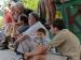 sar040 Schach-Zuschauer auf dem Trg Alija Izetbegovica Platz