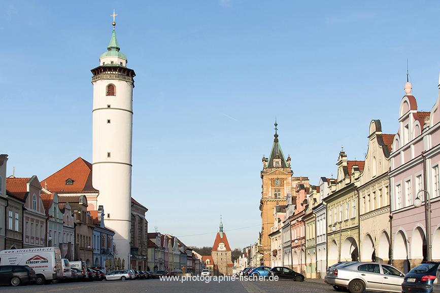 CZE0261: o.T. (Marktplatz Domažlice, Region Plzen, Tschechien 2017)