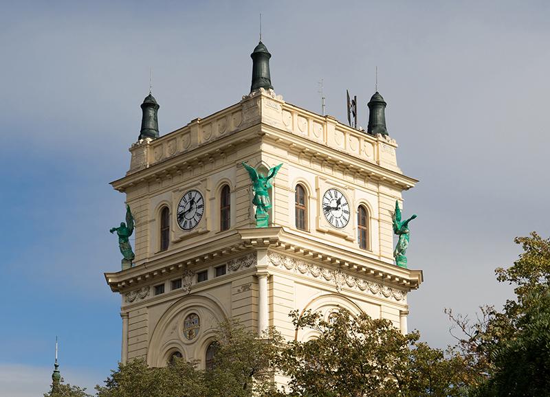 CZE0332: o.T. (Wasserturm Vohradov, Prag, Tschechien 2018)